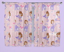 """Official Disney Sofia the First Academy Curtains 66 x 54"""" or 66 x 72"""" New Gift"""