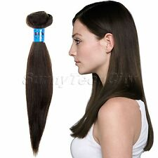 Lady Remy Human Hair Virgin Peruvian Straight Weft Extensions 100g full head