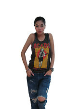 AC/DC For Theose About To Rock Women's T-Shirt Tank Top Vest Graphic Tee Black