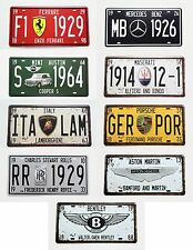 Super Car Symbol License Plate Embossed Metal Tin Sign Wall Decor Display 12x6""