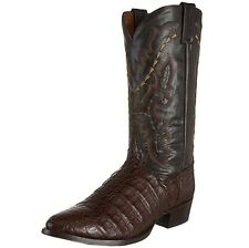 "DAN POST Men's Chocolate Brown Caiman Lizard Western Cowboy 13"" Boots DP2386 NIB"