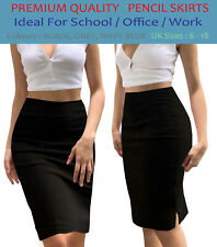 Womens Bodycon Pencil Skirt Girls Stretch Midi Party Skirt Ladies Office school