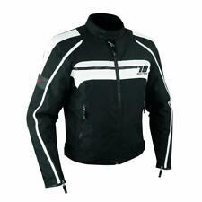 Motorcycle Biker Waterproof Textile Thermal Touring Jacket CE Armoured White