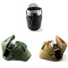 Tactical Airsoft Paintball CS GAME WARGAME Face Guard Mask with Goggles One Size