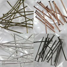 50PC-200PC Metal Plated Flat Head Pins Jewelry Finding Craft 16/20/30/40/50/60MM
