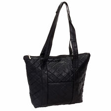 Women's Quilted Faux Leather Tote Purse Bag w/ Front Pocket NEW NWT