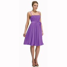 Sexy Knee Length Cocktail Party Bridesmaid Silk Chiffon Dress Lavender