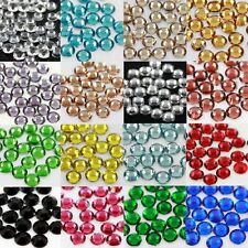 1000 x GLUE ON FLAT BACK 5mm RHINESTONE CRYSTAL CRAFTS SCRAPBOOKING GEMS NAILART