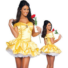 beauty and the beast Belle princess fancy dress outfit hen sexy size 6 8 10 12