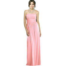Strapless Chiffon Formal Cocktail Evening Ball Gown Bridesmaid Dress Light Pink
