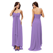 Glamorous Sweetheart Beaded Strapless Formal Gown Evening Dress Deep Lilac