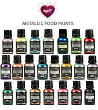 Rainbow Dust Edible Food Paint. Metallic Pearlescent Cupcake & Cake Decorating