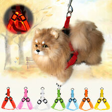 LED Glow Flashing Light Dog Belt Harness Leash Tether Pet Light-up Safety Collar