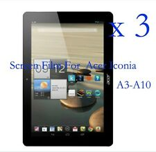 """3 Glossy Matte LCD Screen Protector Guard Film Cover F Acer Iconia A3-A10 10.1"""""""