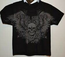 """Rebel Saints By Affliction Toddler T-Shirt """"ALDMAN"""" 2 Sided Graphic Tee"""
