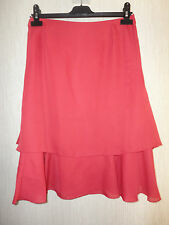 BNWTLadies Red Chiffon Style Double Layered Knee Length Skirt By Together RRP£38