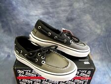 NEW VANS ZAPATO DEL BARCO Boat Shoes Pewter & Black Boys Sizes: 13.5, 1, & 2.5