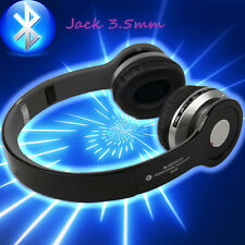 Wireless Bluetooth Stereo Headset Headphones + Mic&FM Radio for PC Phone LG HTC