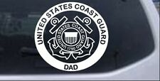 United States Coast Guard Dad Car or Truck Window Laptop Decal Sticker