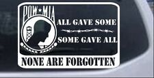 POW MIA All Gave Some Car or Truck Window Laptop Decal Sticker