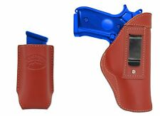New Barsony Burgundy Leather IWB Holster + Mag Pouch Ruger Star Full Size 9mm 40