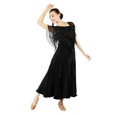 Latin Ballroom Dance Dress Modern Salsa Waltz Standard Long Dress#C258 3 Colors