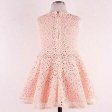 Fashion Kids Girls Toddler Baby Lace Princess Party Dresses Skirts Clothes 2-7Y