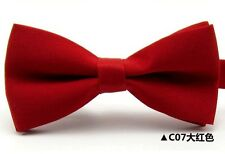 Men's Fashion Tuxedo Classic Solid Color Adjustable Wedding Party Bowtie Bow Tie