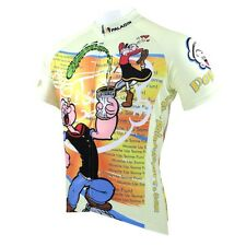 New Mens Cycling Jersey Rider wear Bike Clothing Shirt Paladinsport Popeye S-3XL