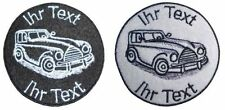 Youngtimer patch with your text 10cm embroidered logo (63)
