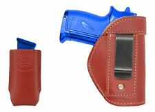 New Barsony Burgundy Leather IWB Holster + Mag Pouch Smith&Wesson 380 UltraComp
