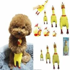 Screaming Shrilling Yellow Rubber Chicken Pet Dog Toys Boy Kids Sound Toy