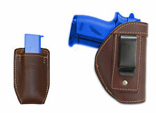 New Barsony Brown Leather IWB Holster + Mag Pouch for Makarov FEG Mini 22 25 380