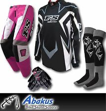 YOUTH MX MOTOCROSS JERSEY+PANTS+GLOVES*PINK*Dirt Bike Gear/BMX/Off-road/Kids/ATV