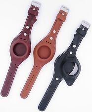 Vintage Style Leather Pocket Watch Strap/Band with Cover Black/Light Brown 750