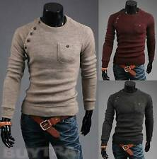 New Mens Premium Stylish Slim Fit  Sweater Jumper Tops Cardigan 3 Colour-US HF