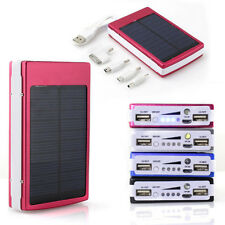 Portable 30000mAh Solar 2 USB External Battery Power Bank Backup Charger Iphone