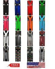 Boys Girls Kids Child Children Clip on Y Back Elastic Suspenders Kid Suspender