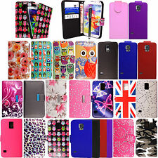 New Leather Wallet Flip Case Cover For Samsung Galaxy S5 i9600 G900 +Free Stylus