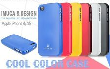 iMUCA Cool Color Series Top Quality Silicone Case for iPhone 4,4s + Screenguard