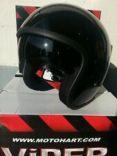 Viper RS-V06 Open Face Jet Tourer Motorcycle Helmet Gloss Black All Sizes New