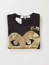 COMME DES GARCONS CDG PLAY GOLD HEART IN BLACK