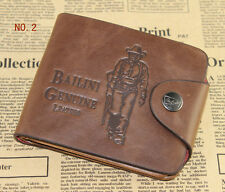 Mens Leather Wallet Pocket Card Clutch Cente Bifold Purse Money Clip Holder Cool