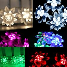 Battery Operated 20/40 LED double Lotus Fairy Haloween Wedding Lights 2M/4M
