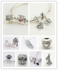 2014 New Silver love Heart style for lover fit European Bead Charm Bracelets