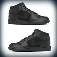 Boys' Grade School Air Jordan 1 Black/Black-Anthracite 554725-011