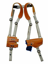 NEW Barsony Tan Leather Shoulder Holster w/ Dbl Magazine Pouch Taurus Compact