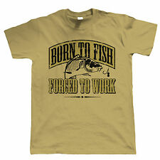 Born To Fish Forced To Work Men Funny Fishing Shirt - Fathers Day Gift Dad