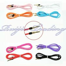 2pcs 3.5mm Male To Male Stereo Audio AUX Auxiliary Cable Cord PC iPod CAR 3FT 1M