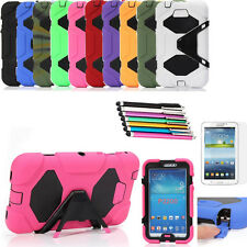 Heavy Duty Hard Rugged Combo Case Cover Stand for Samsung Galaxy Tab3 7.0 P3200